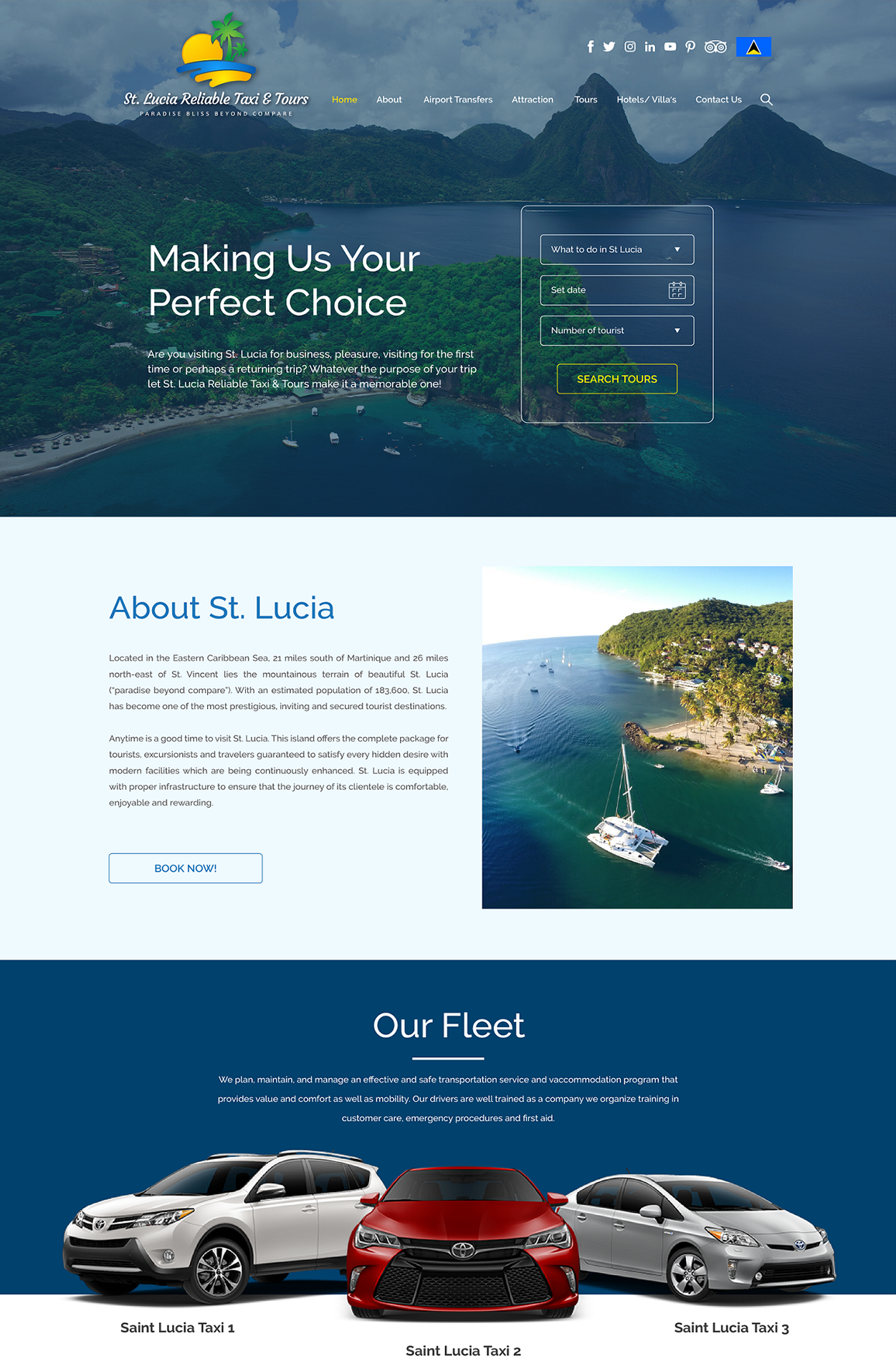 St Lucia Web Design Innerpages-Home
